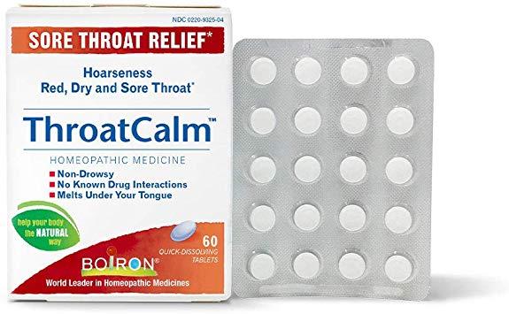 Boiron Throatcalm - 60 Tab - Rubert Organics